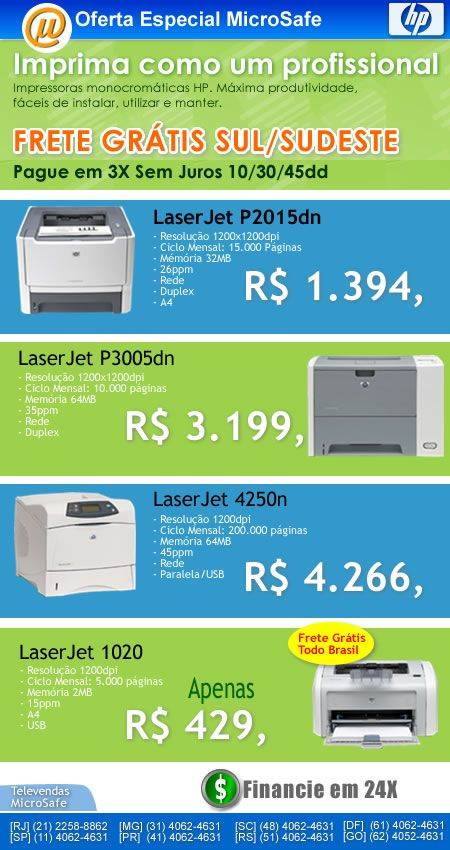 impressoras hp momocromaticas