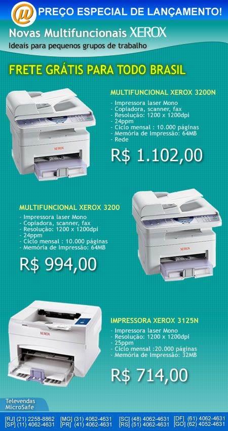 Lancamento Xerox  multufuncionais