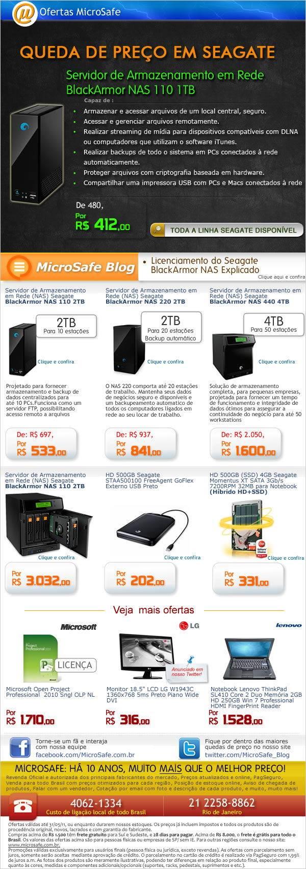Ofertas Seagate na MicroSafe