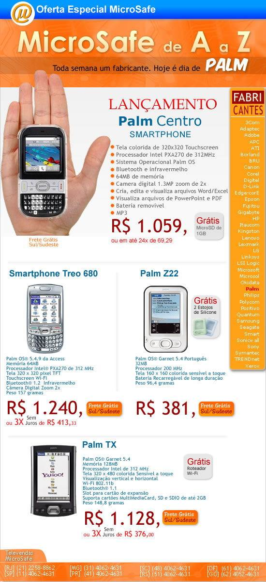 MicroSafe de A a Z - Palm