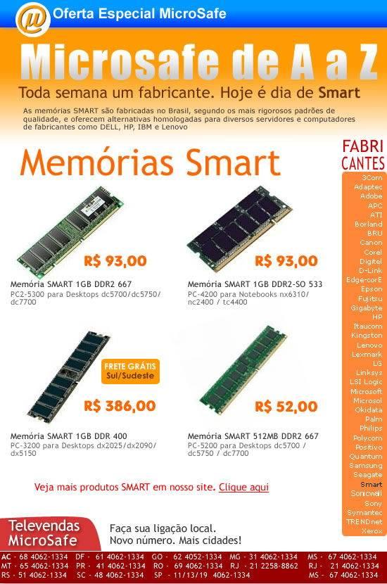 MicroSafe de A a Z - Memórias Smart