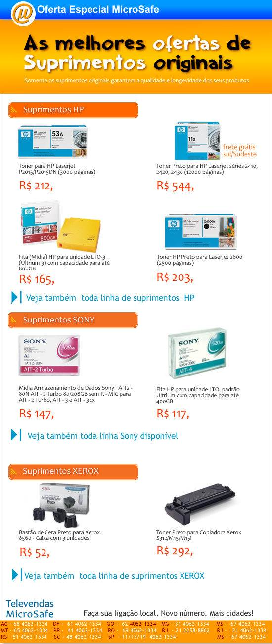Ofertas imperd�veis de suprimentos na MicroSafe