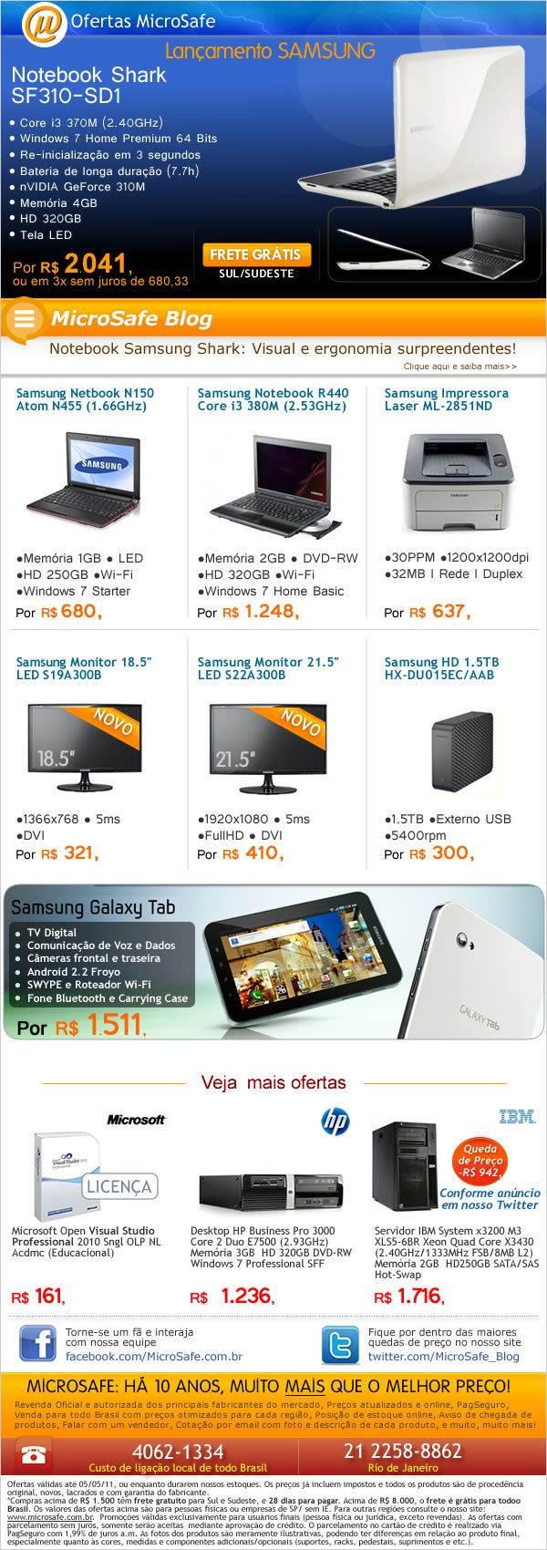 Ofertas Samsung na MicroSafe!