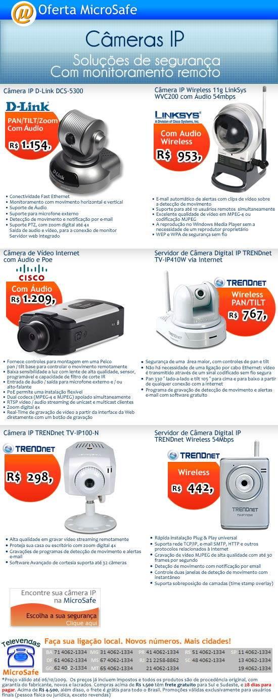 Compre sua câmera de segurança na Microsafe!