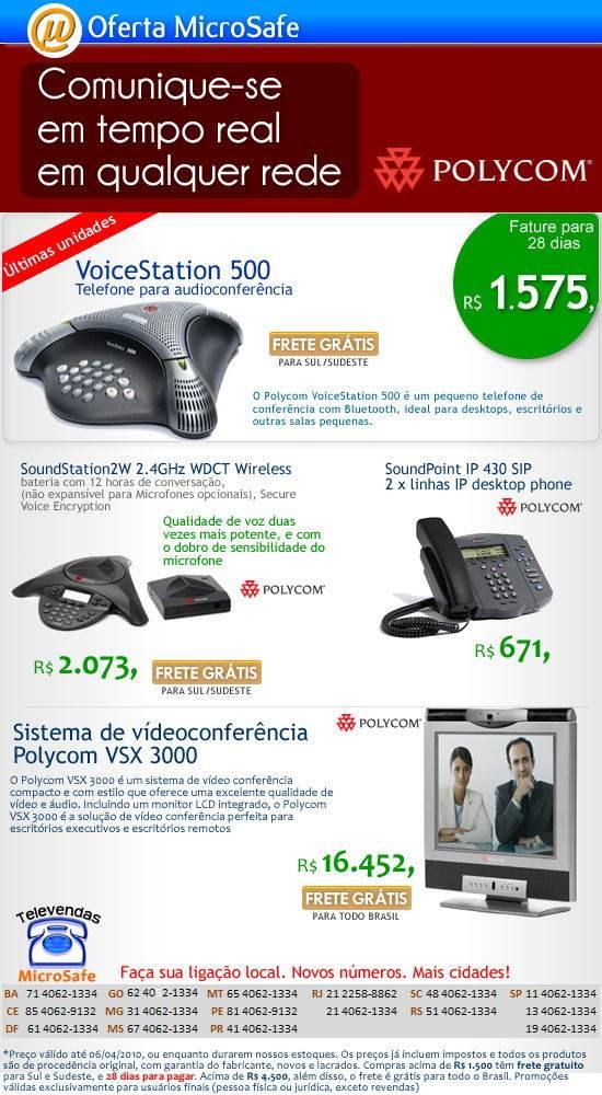 Polycom na MicroSafe!