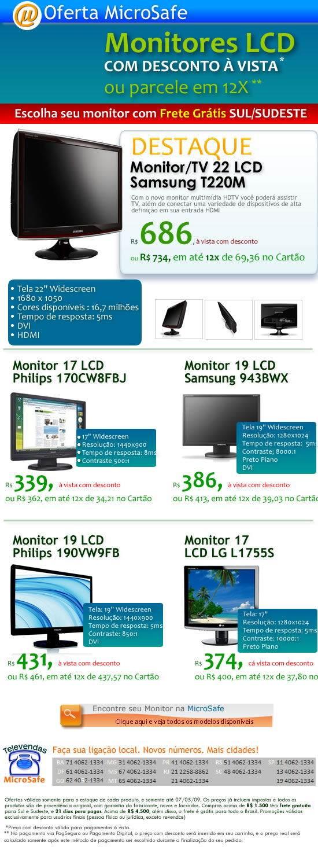 TV_ Monitor_Samsung_22pol_por_menos_R$ 700!