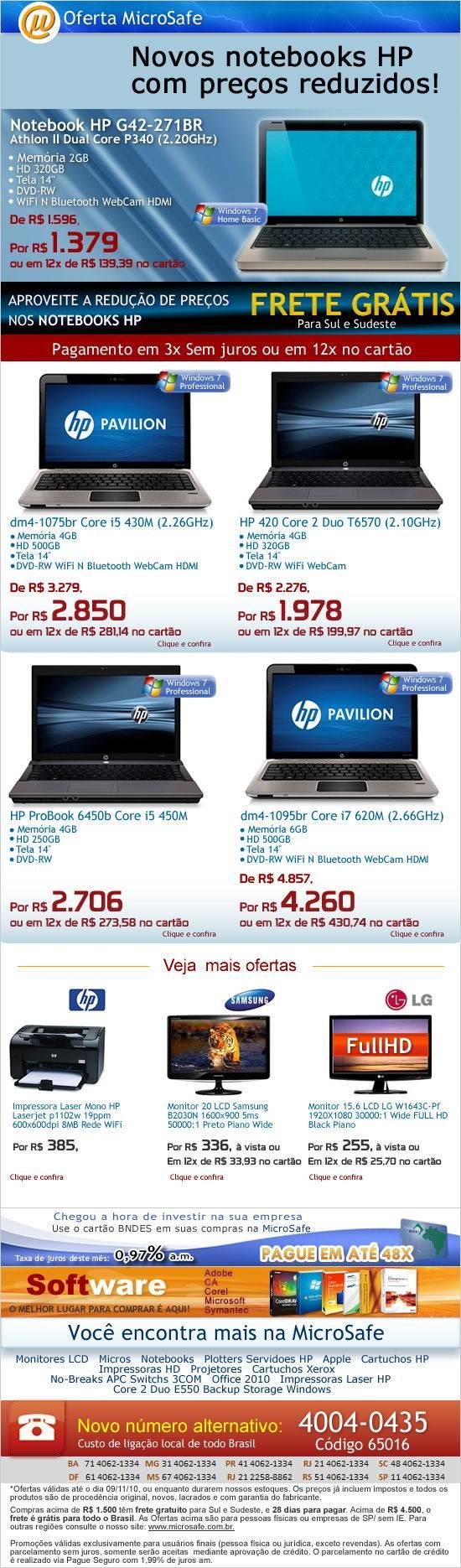 Notebooks HP com preços reduzidos!