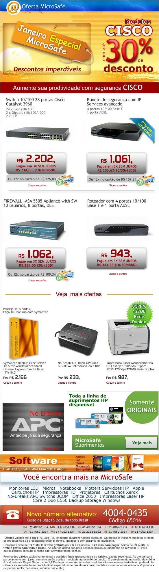 Produtos CISCO com até 30% de desconto na MicroSafe!