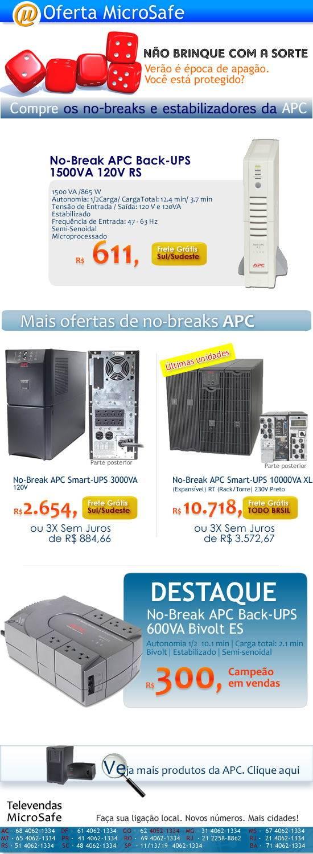 No-breaks APC