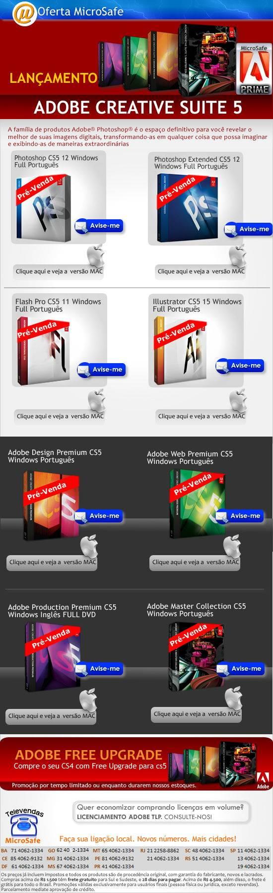 Lan�amento Adobe CS5 na MicroSafe!