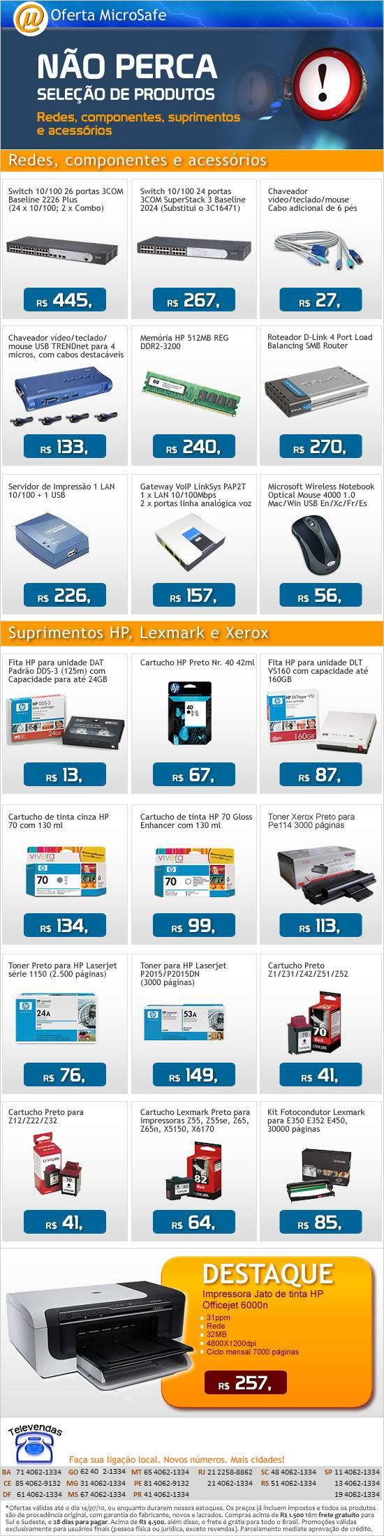 Impressora HP Officejet 6000n apenas 257,