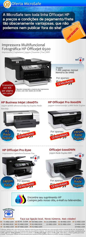 Officejets HP a preços imperdíveis na MicroSafe!