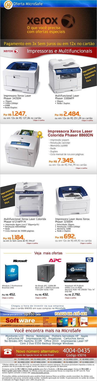 Ofertas em impressoras e multifuncionais XEROX!