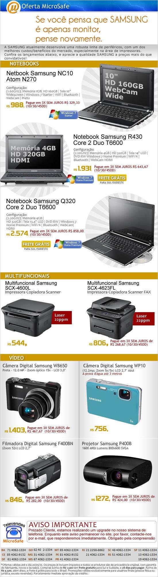 Lançamentos Samsung na MicroSafe!