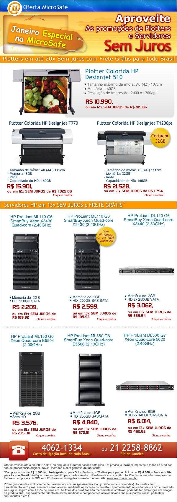 Aproveite as promoções de Plotters e servidores na MicroSafe!