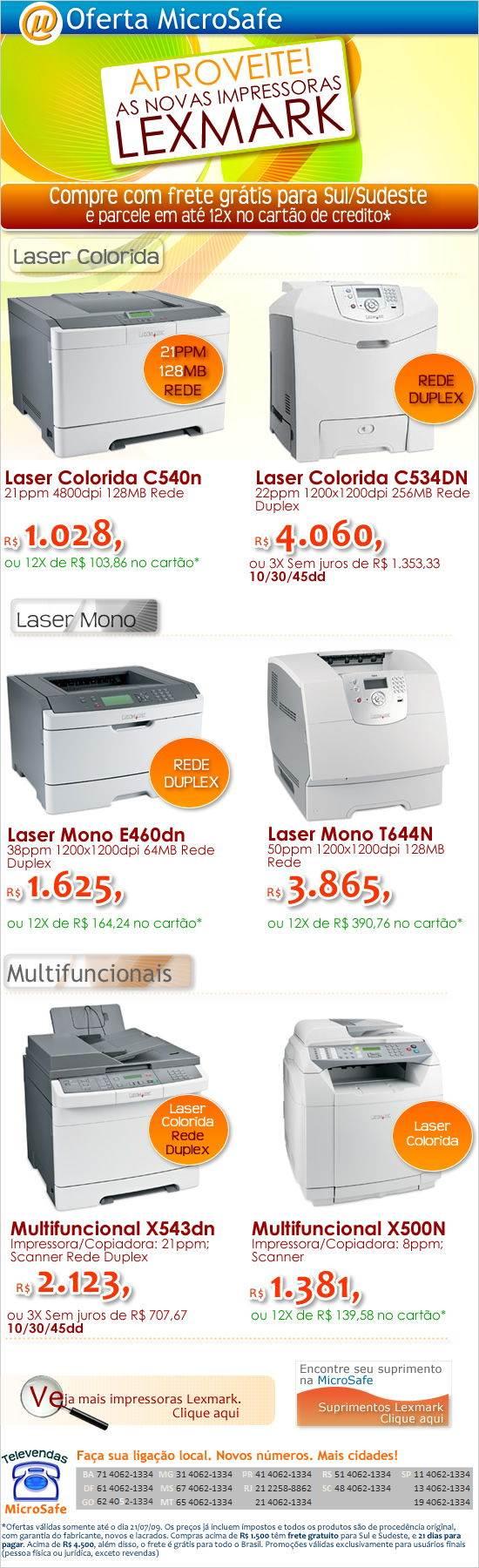 Aproveite as novas impressoras Lexmark