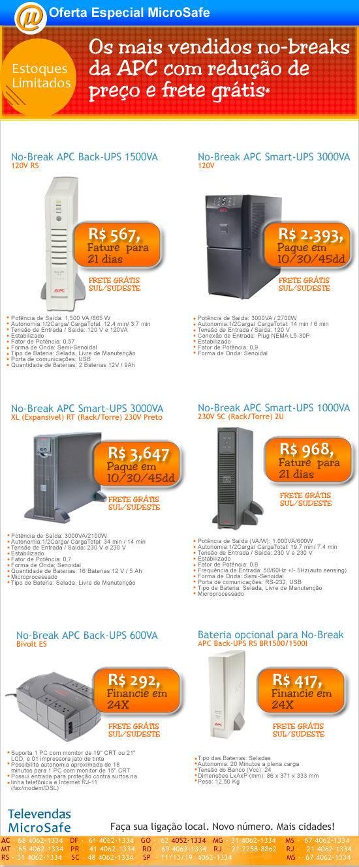 No-breaks da APC com preços reduzidos na MicroSafe
