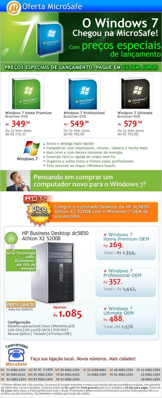 Windows 7 na MicroSafe!