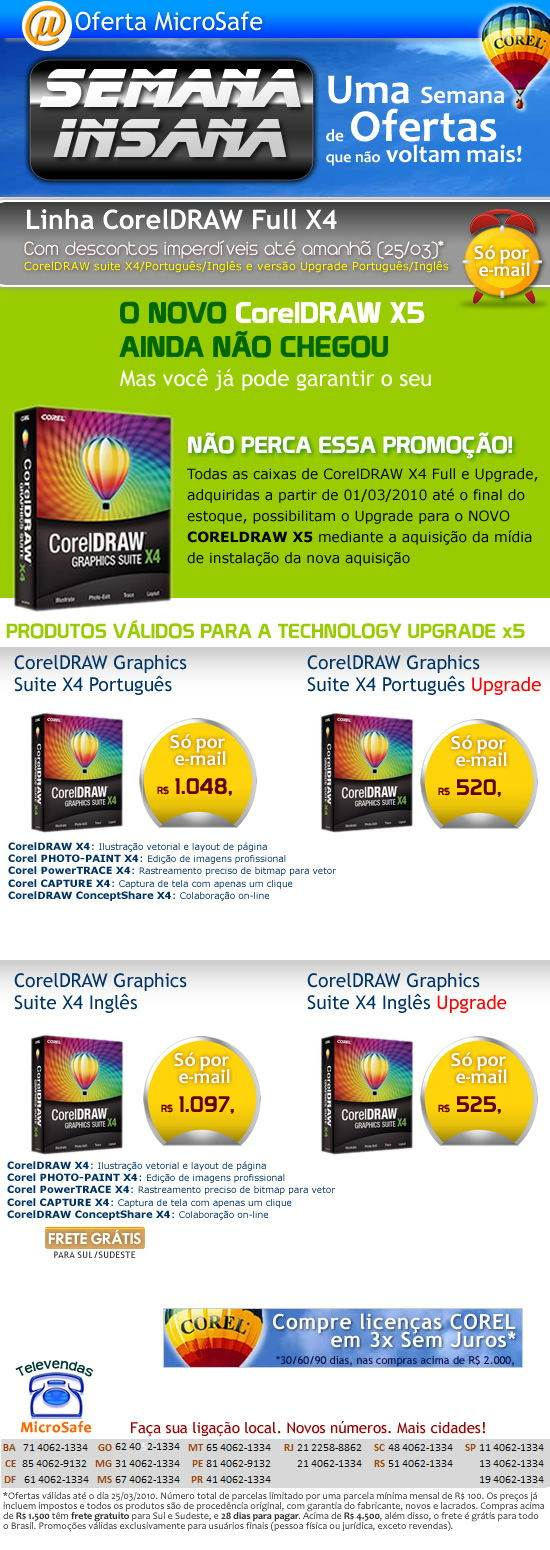 SEMANA INSANA - CorelDRAW Full X4!