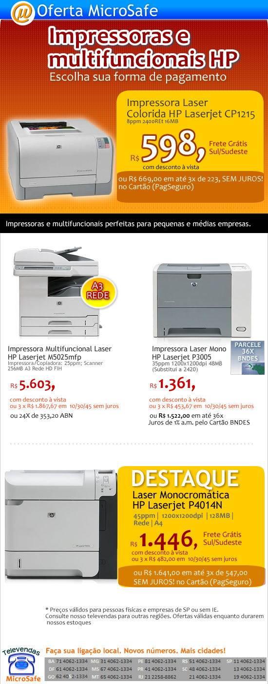Multifuncionais e Impressoras HP
