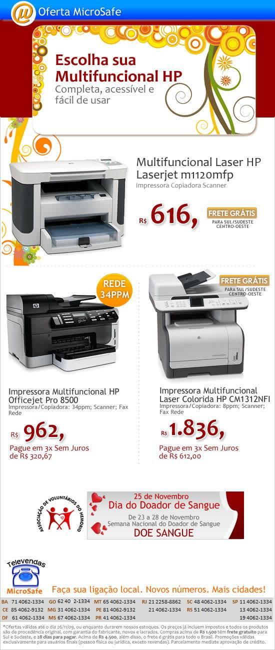 Aproveite as Multifuncionais HP na MicroSafe!
