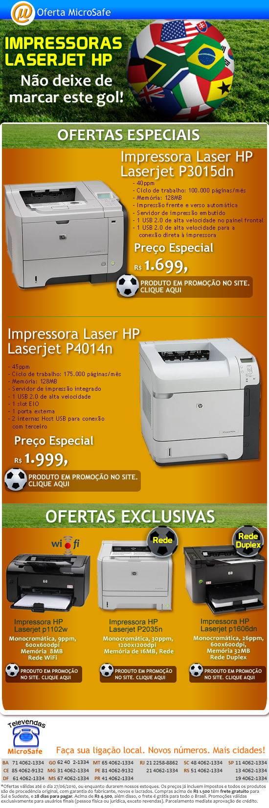 Impressoras HP Laserjet com preços especiais!
