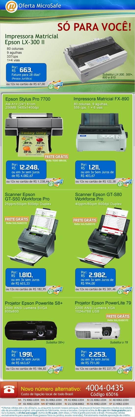 Impressora matricial Epson com preço especial!