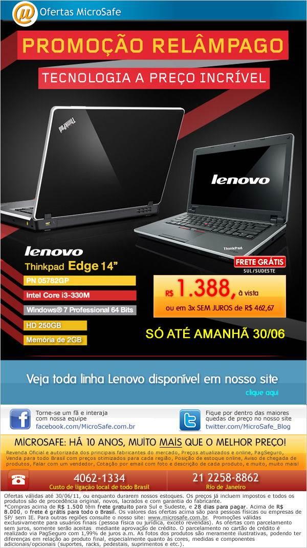 Promoção Relâmpago Lenovo