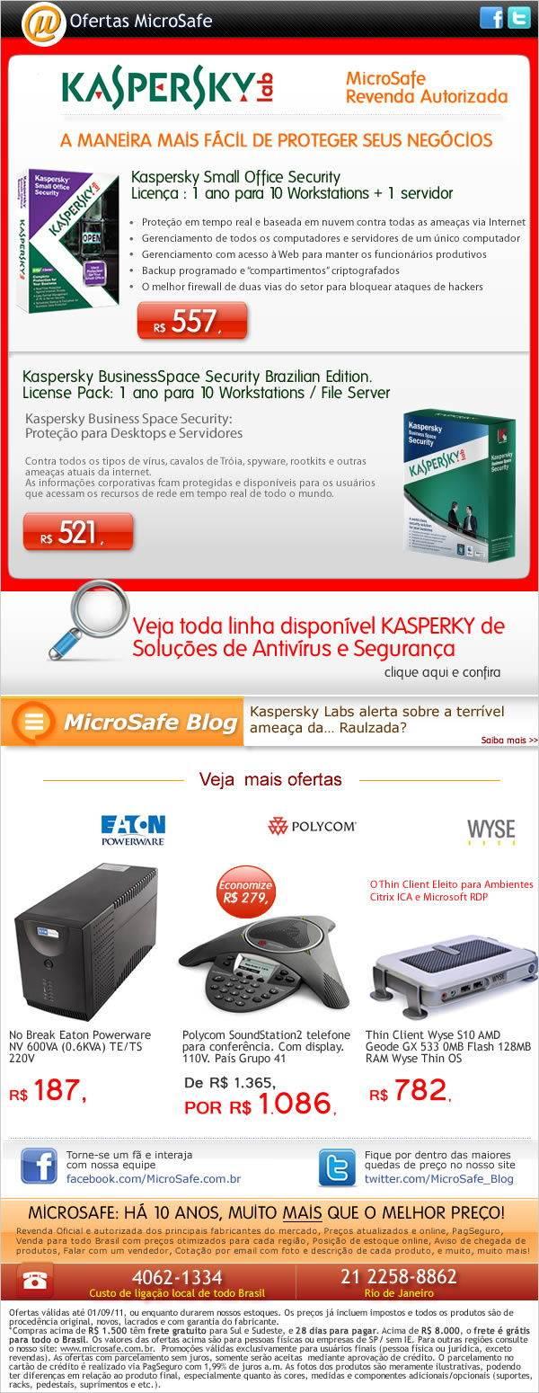 Kaspersky: A maneira mais fácil de proteger seus negócios!
