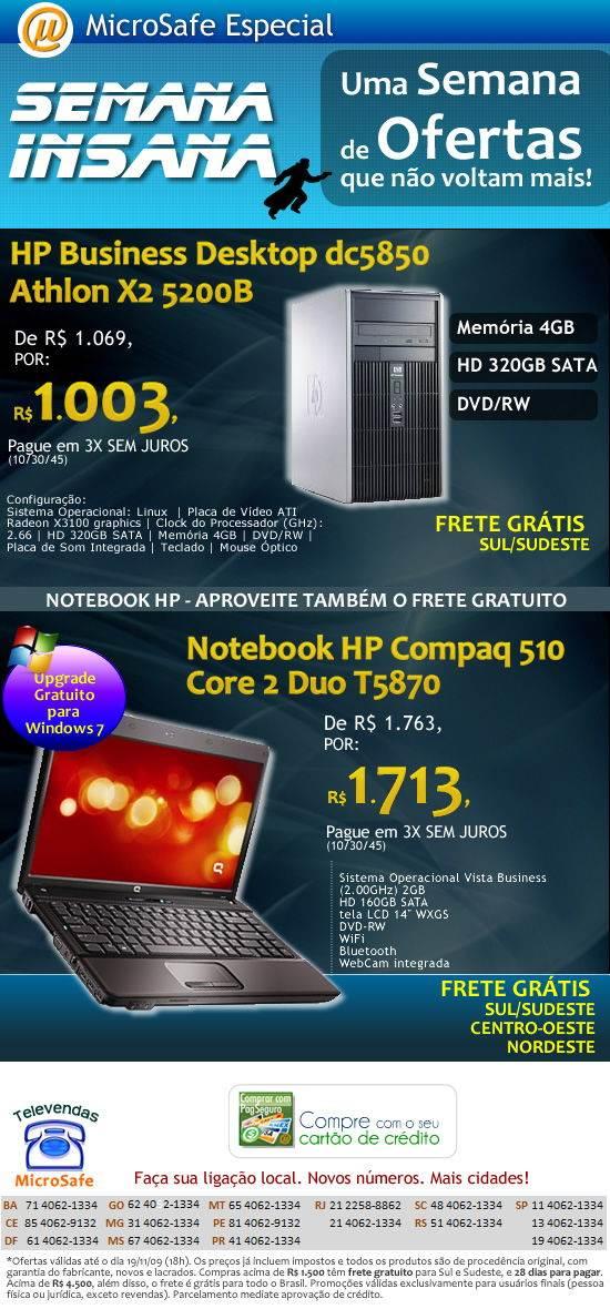 Micro HP dc5850 s� R$ 1.003,!