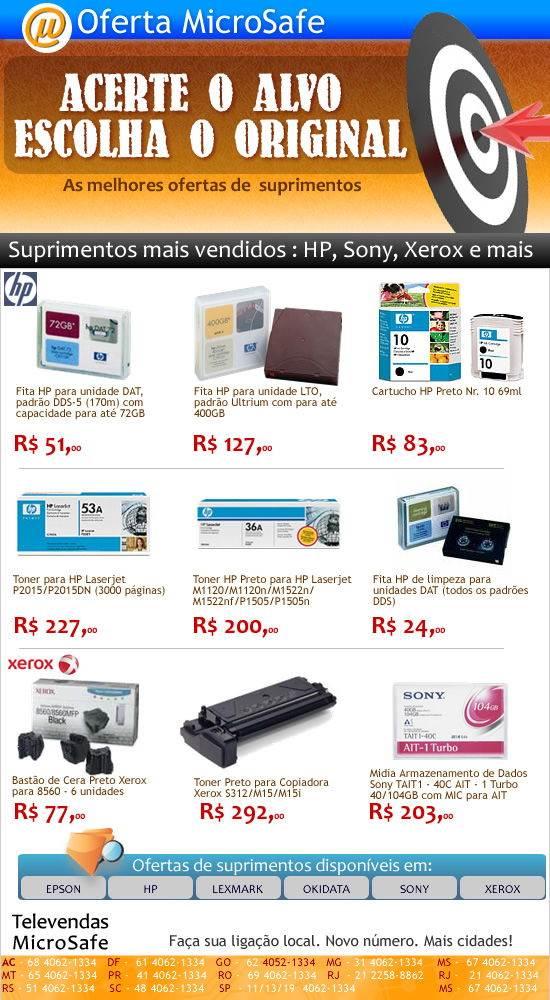 Ofertas de suprimentos na MicroSafe