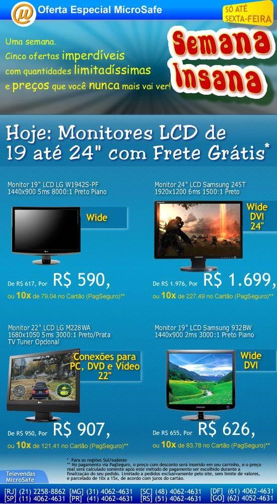 Semana Insana com monitores LCD a preços imperdíveis!
