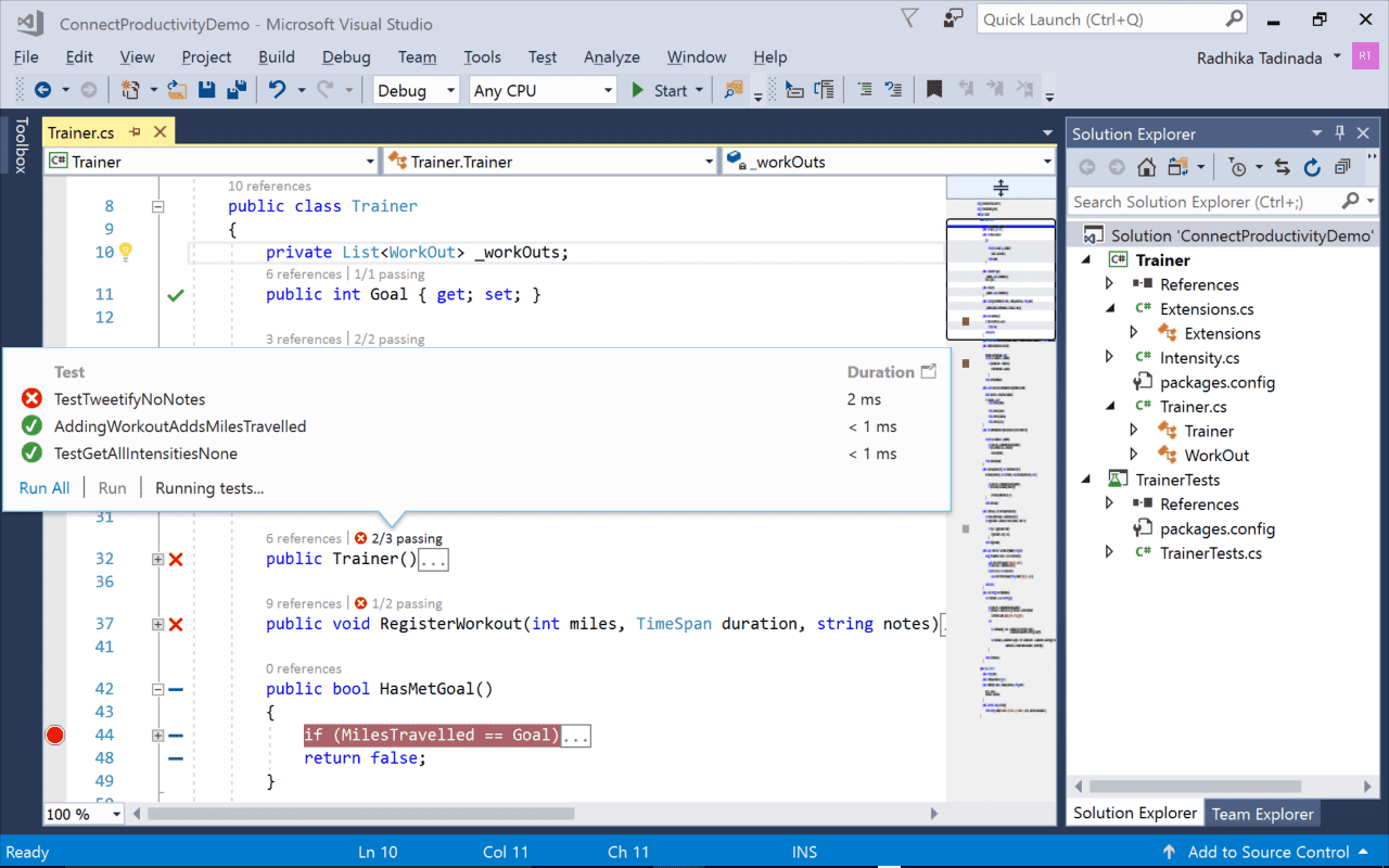 Visual Studio 2017 Pro Debug Mode