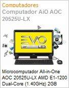 Microcomputador All-in-One AOC 20525U-LX AMD E1-1200 Dual-Core (1.40GHz) 2GB 500GB 20 LED DVD-RW Linux  (Figura somente ilustrativa, n�o representa o produto real)