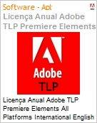 Licen�a anual Adobe TLP Premiere Elements All Platforms International English Gold 1 Ano Per Seat Pro Min Req  (Figura somente ilustrativa, n�o representa o produto real)