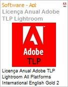 Licen�a anual Adobe TLP Lightroom All Platforms International English Gold 2 Anos Per Seat Pro Min Req  (Figura somente ilustrativa, n�o representa o produto real)