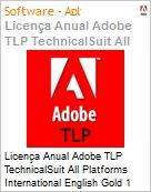 Licen�a anual Adobe TLP TechnicalSuit All Platforms International English Gold 1 Ano Per Seat Pro Min Req  (Figura somente ilustrativa, n�o representa o produto real)