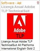 Licen�a anual Adobe TLP TechnicalSuit All Platforms International English Gold 2 Anos Per Seat Pro Min Req  (Figura somente ilustrativa, n�o representa o produto real)