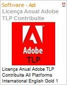 Licen�a anual Adobe TLP Contribuite All Platforms International English Gold 1 Ano Per CPU Pro Min Req  (Figura somente ilustrativa, n�o representa o produto real)