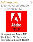 Licen�a anual Adobe TLP Contribuite All Platforms International English Gold 2 Anos Per CPU Pro Min Req  (Figura somente ilustrativa, n�o representa o produto real)
