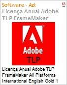 Licen�a anual Adobe TLP FrameMaker All Platforms International English Gold 1 Ano Per Seat Pro Min Req  (Figura somente ilustrativa, n�o representa o produto real)