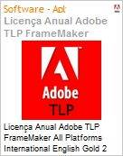 Licen�a anual Adobe TLP FrameMaker All Platforms International English Gold 2 Anos Per Seat Pro Min Req  (Figura somente ilustrativa, n�o representa o produto real)
