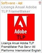 Licen�a anual Adobe TLP FrameMaker Pub Servr All Platforms International English Gold 1 Ano Per CPU Pro Min Req  (Figura somente ilustrativa, n�o representa o produto real)