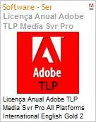Licen�a anual Adobe TLP Media Svr Pro All Platforms International English Gold 2 Anos Per CPU Pro Min Req  (Figura somente ilustrativa, n�o representa o produto real)