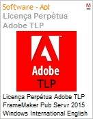 Licen�a Perp�tua Adobe TLP FrameMaker Pub Servr 2015 Windows International English 1 User  (Figura somente ilustrativa, n�o representa o produto real)