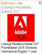 Licen�a Perp�tua Adobe TLP FrameMaker 2015 Windows International English 1 User  (Figura somente ilustrativa, n�o representa o produto real)