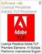 Licen�a Perp�tua Adobe TLP Premiere Elements 14 Multiple Platforms International English 1 User  (Figura somente ilustrativa, n�o representa o produto real)
