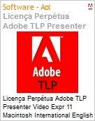 Licen�a Perp�tua Adobe TLP Presenter Video Expr 11 Macintosh International English 1 User  (Figura somente ilustrativa, n�o representa o produto real)