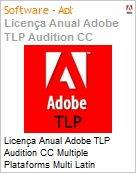 Licen�a anual Adobe TLP Audition CC Multiple Plataforms Multi Latin American Languages Subscription 1 Usu�rio Level 1 1 - 49 1 Ano - Renova��o  (Figura somente ilustrativa, n�o representa o produto real)