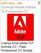 Licen�a anual Adobe TLP Animate CC / Flash Professional CC Multiple Plataforms Multi Latin American Languages Subscription 1 Usu�rio Level 1 1 - 49 1 ano - Renova��o (Figura somente ilustrativa, n�o representa o produto real)